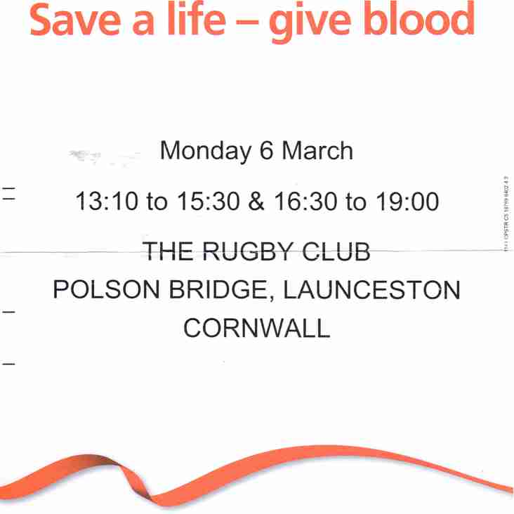 SAVE A LIFE - DONATE BLOOD