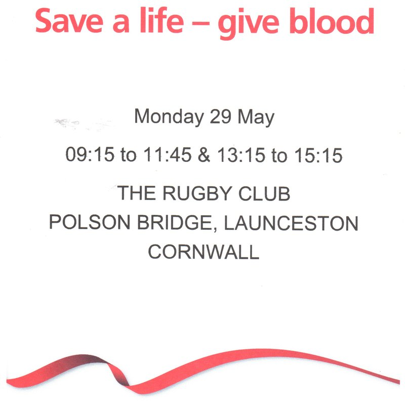 BLOOD DONATION SESSION MAY 29TH