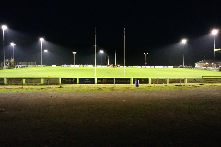 FIRST FLOODLIGHT FIXTURE - FRIDAY 26TH OCTOBER