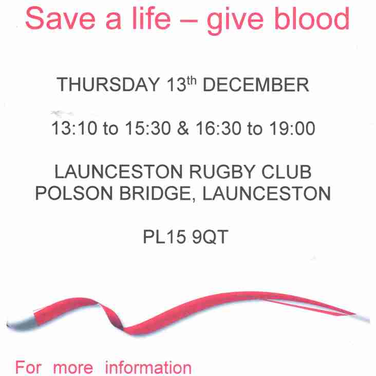BLOOD DONATION DATE CHANGE