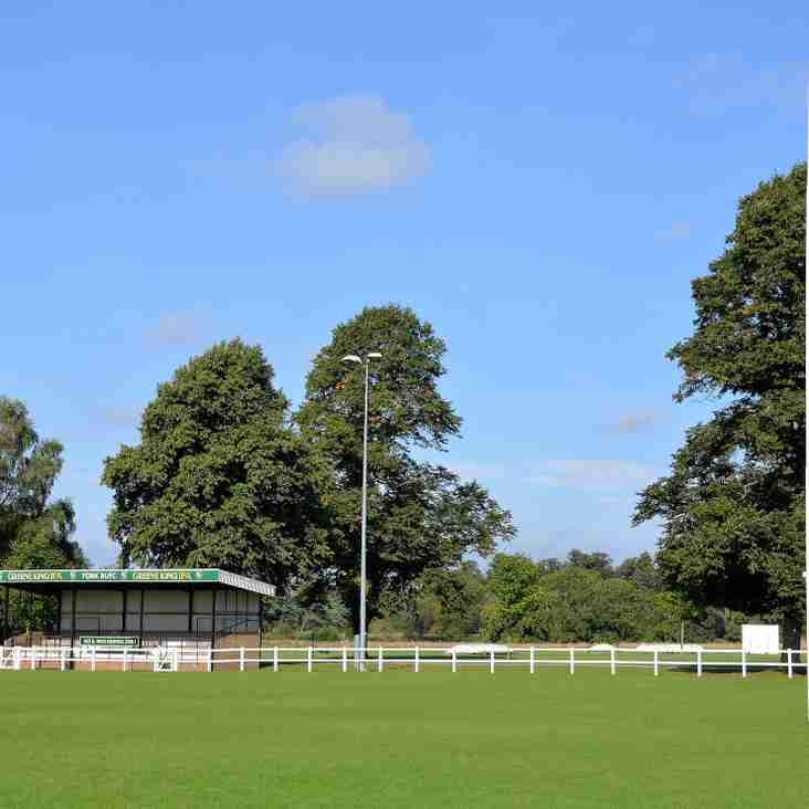 York RUFC AGM - A Reminder and The Meeting Agenda.