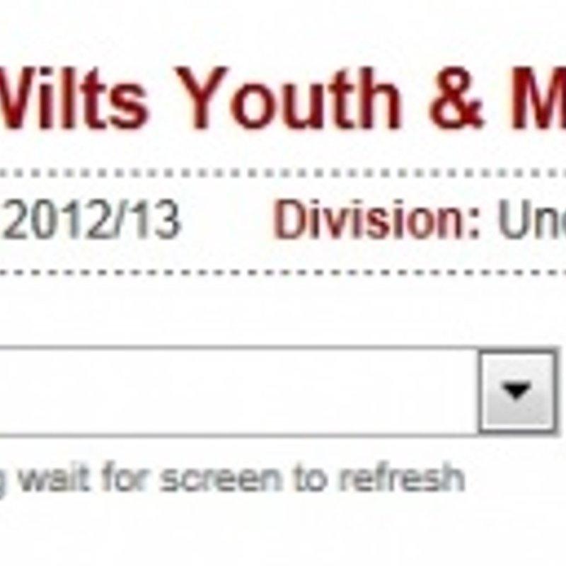 U14's 2012-13 Fixtures