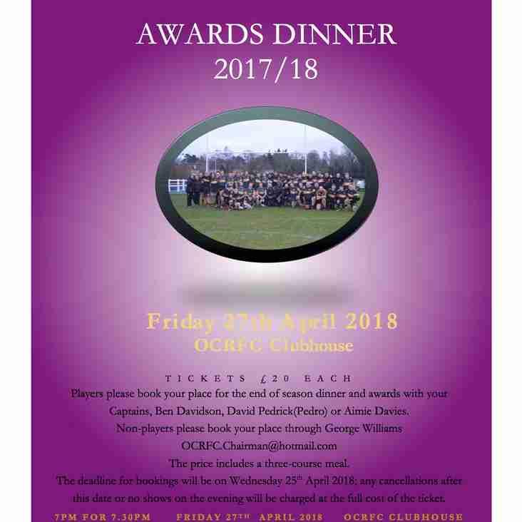 OCRFC Awards Dinner 2018