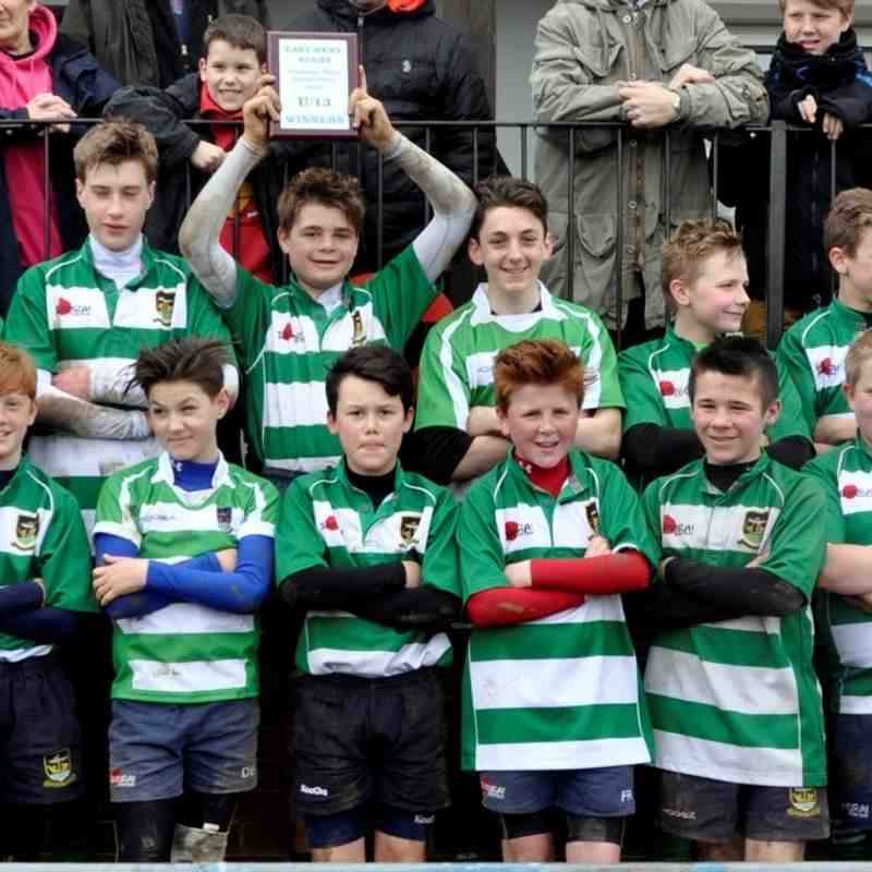 Folkestone Under 13's WIN (53-0) East Kent Plate Final v Sittingbourne at Ashford RFC
