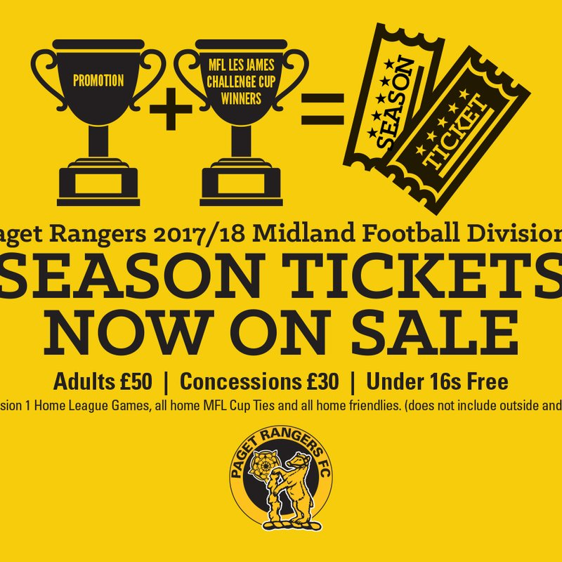 2017/18 Season Ticket and Matchday Prices Announced