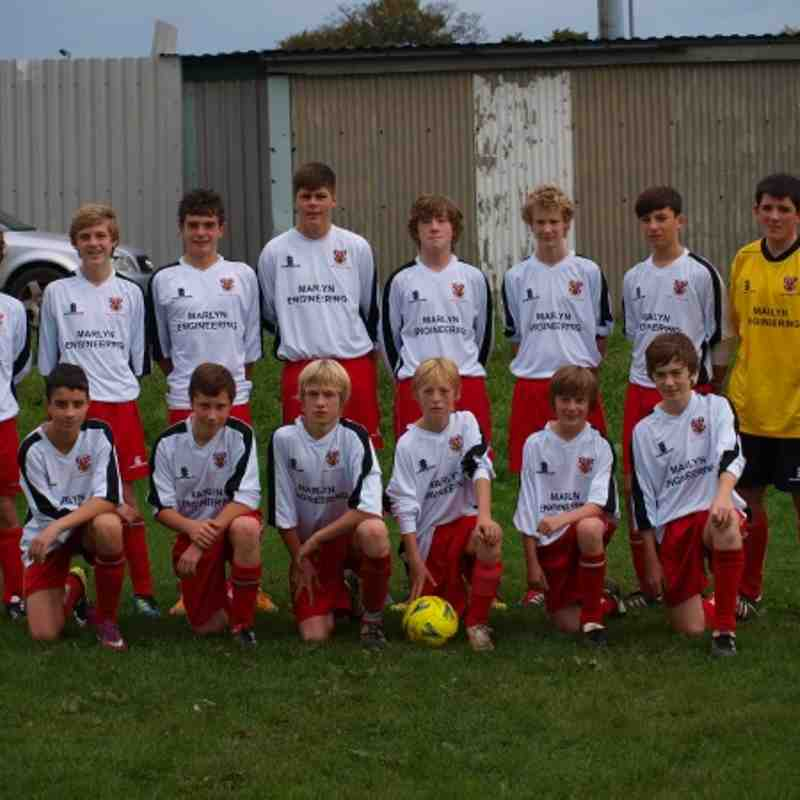 u15 Blue team in new away shirts Sept 2011