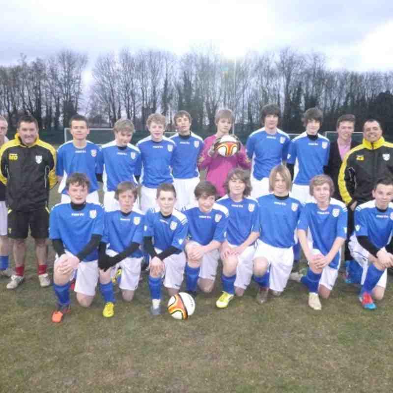 Scole U15's League Cup Final