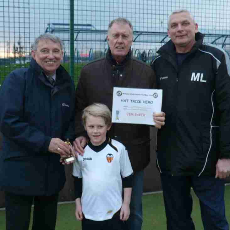 Jem receives award from Sir Geoff Hurst and Graham Taylor
