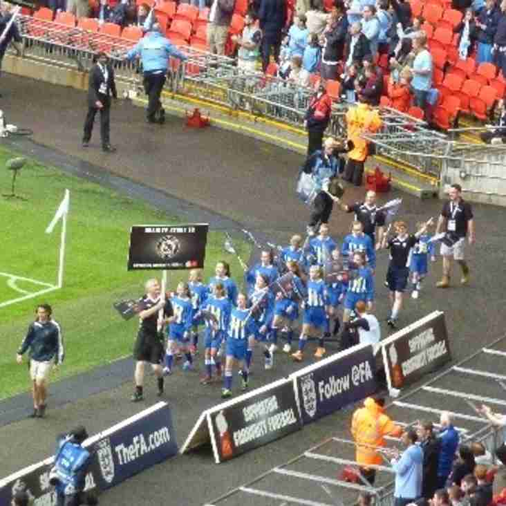 BSYFC U12 Girls in the Wembley parade at FA Community Shield Aug 10th 2014