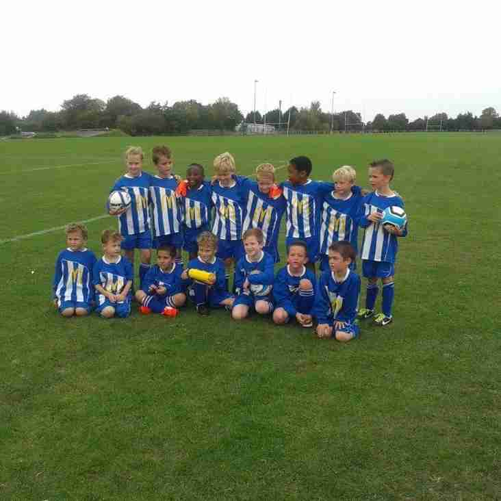 BSYFC U7 squad first ever game
