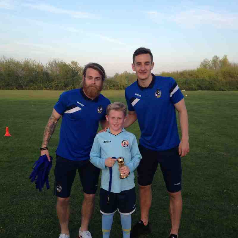 Bristol Rovers at U9 Training Session April 2015