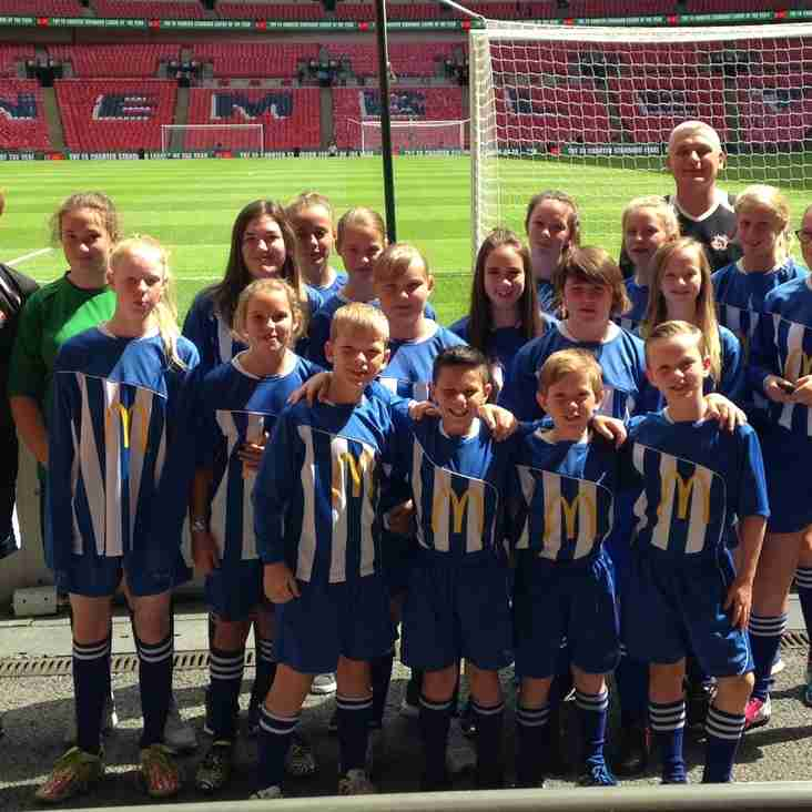 BSYFC at Wembley for Community Shield and walk around pitch