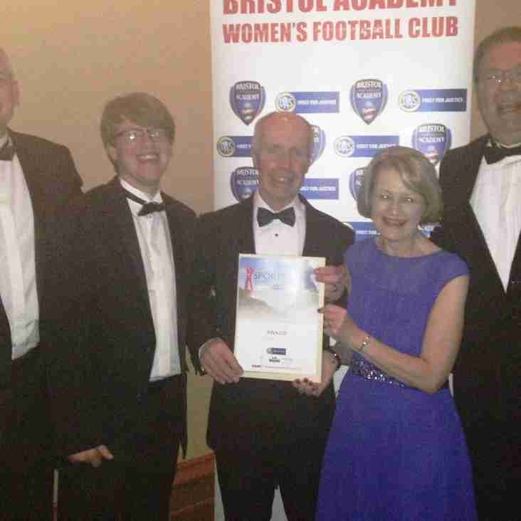 BSYFC finalists at the Bristol Post Sports Awards 2015