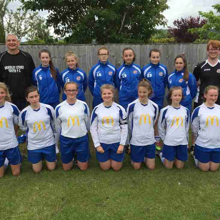 BSYFC U14 Girls win Bishops Cleeve Tournament