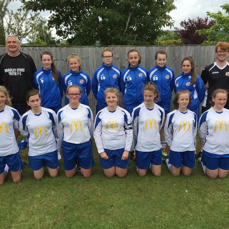 BSYFC U14 Girls win Bishops Cleeve Tournament