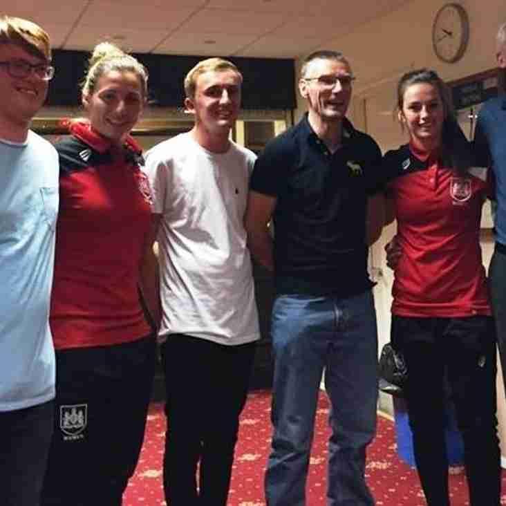 Bristol City Womens Player join Bradley Stoke Ladies Presentation Event