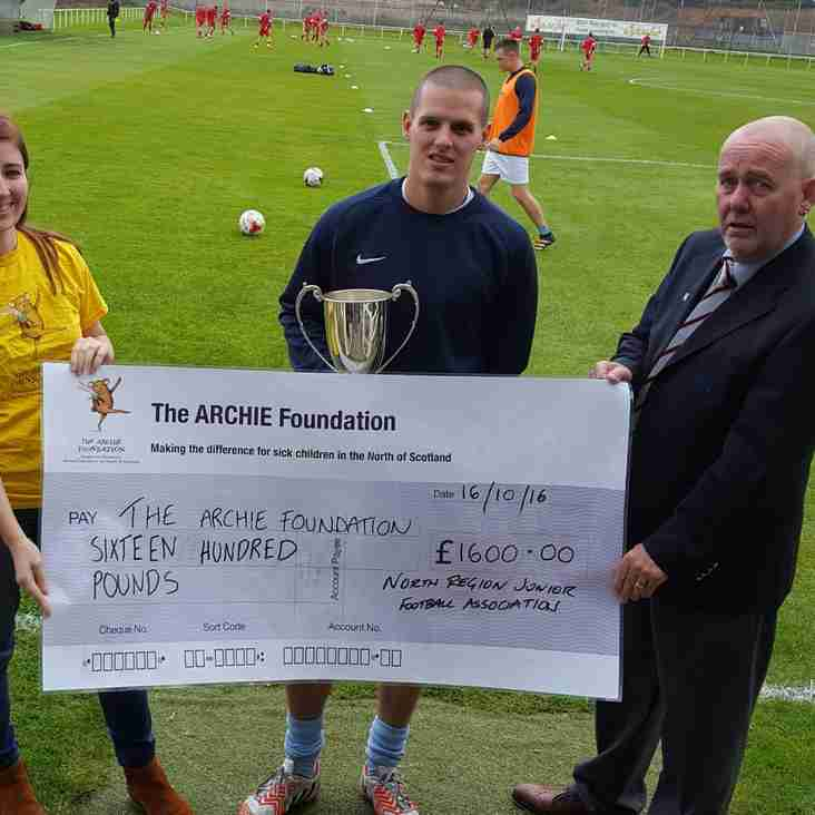 North Region donate over £1600 to the Archie Foundation