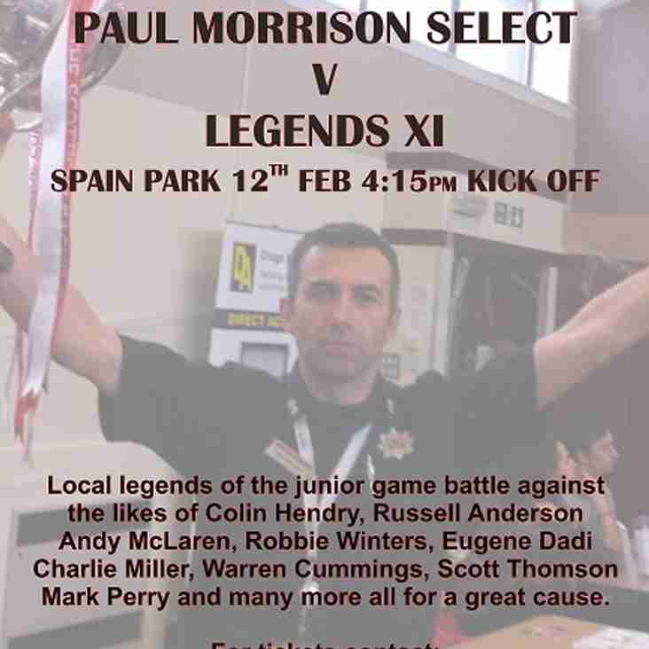 Charity match for Paul Morrison