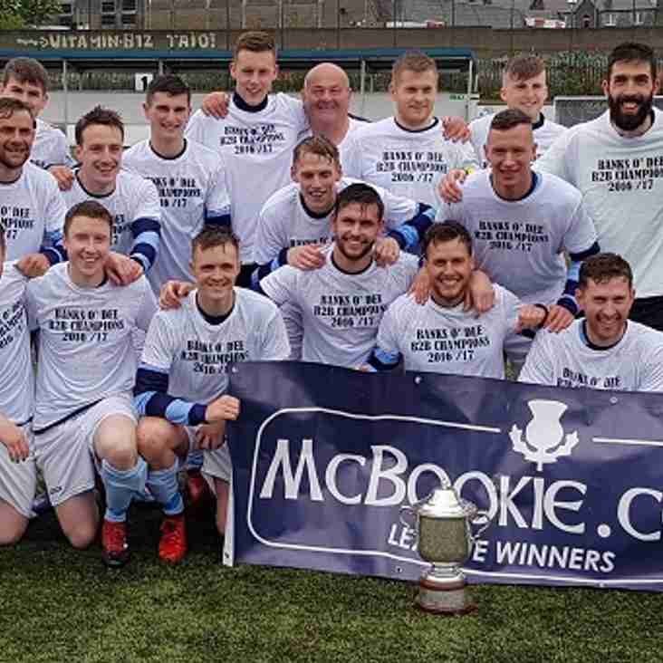 Banks o' Dee celebrate title win in style