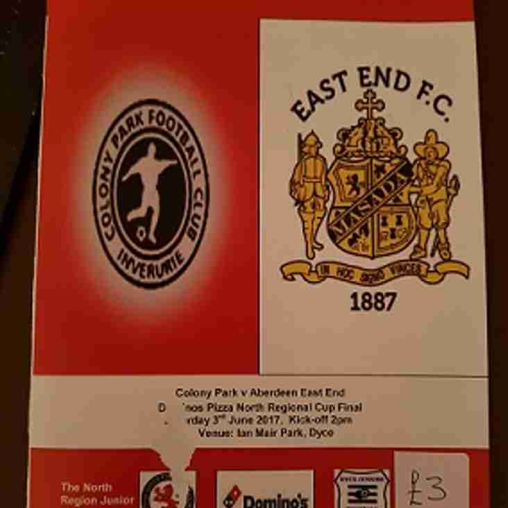 Cup final programme still available