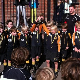 Convincing tournament win for the U8 As at Camberley Minis Festival!