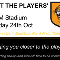 Meet The Players [Tue 24th Oct]