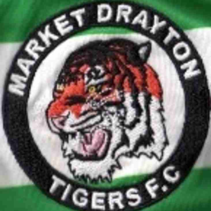 A MESSAGE OF THANKS FROM THE MARKET DRAYTON TIGERS PRESIDENT