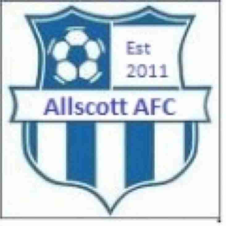 MDTFC UNDER 18's V ALLSCOTT AFC UNDER 18's - REARRANGED FOR SUNDAY 14TH FEBRUARY 2016