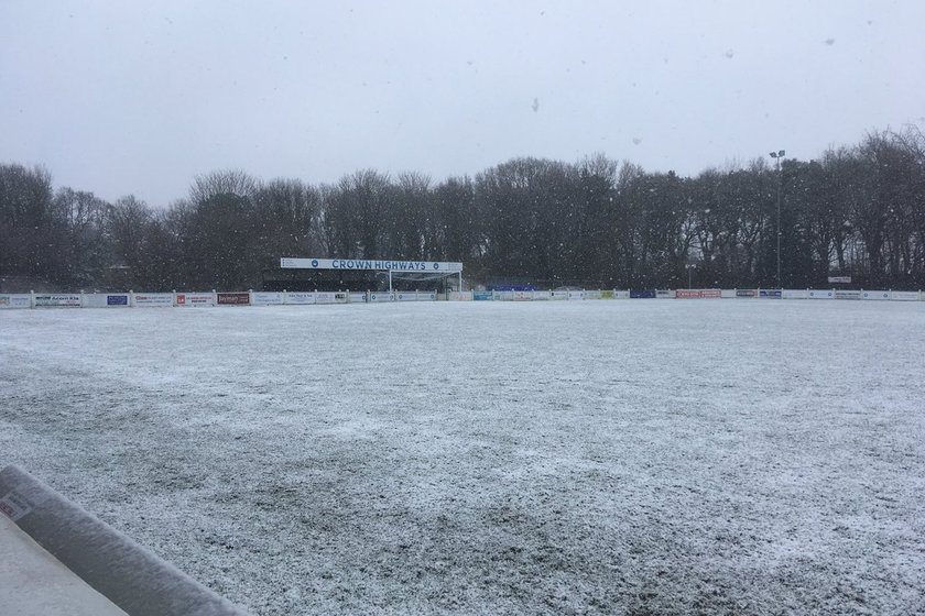 Snow Causes Postponement Of The First Team's 'Away' Game v Chasetown