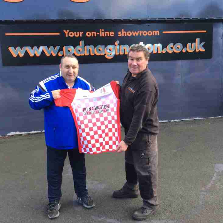 MDTFC Chairman Takes Delivery Of  The 'New Strip' - Sponsored By P D Nagington Car Sales & Service Centre