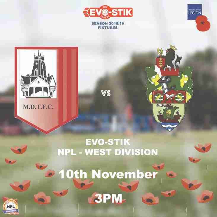 Home Match Preview 10th November - MDTFC Would Like To Offer Members Of The Armed Forces Free Entry For Our Game v Runcorn Linnets