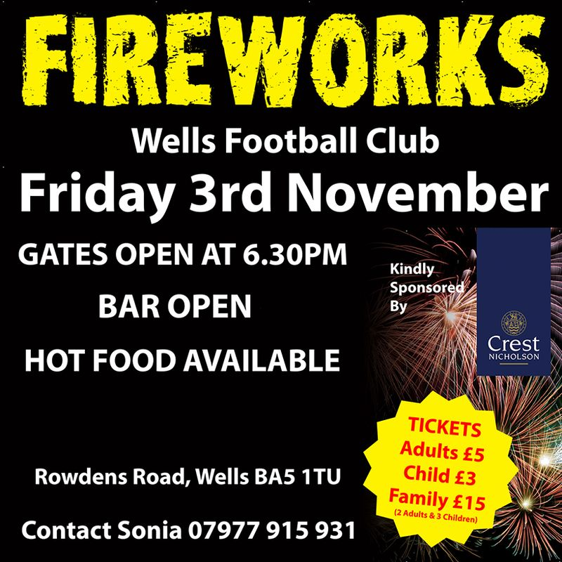 Fireworks Display Friday 3rd November