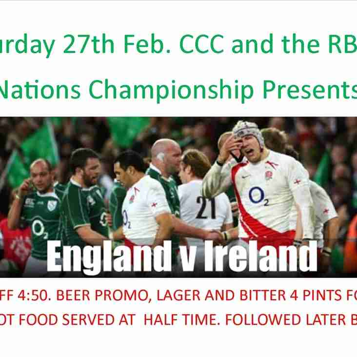 6 NATIONS ENG V IRE