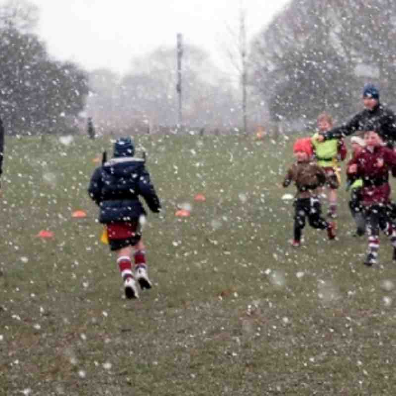 U7s Training in the snow