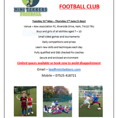 Mini Tekkers 31st May to 02nd June 2016