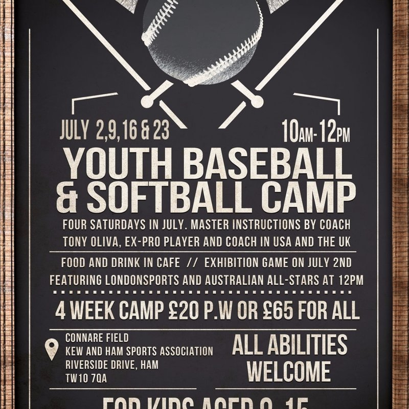 Richmond Baseball to hold Summer Camp 10-2 02/09/16/23rd July.