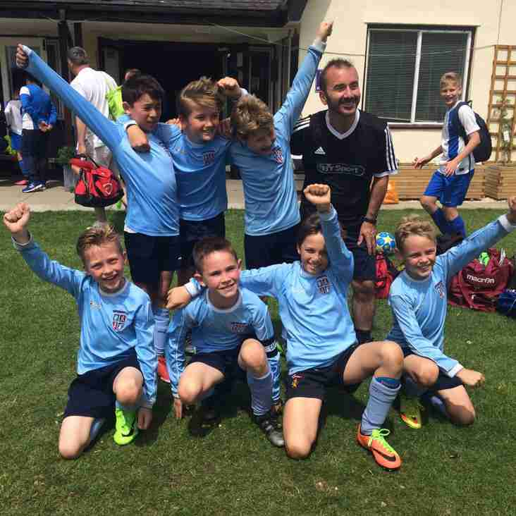CONGRATULATIONS TO KEW U10 LIONS WHO WIN WANDGAS SUMMER TOURNAMENT