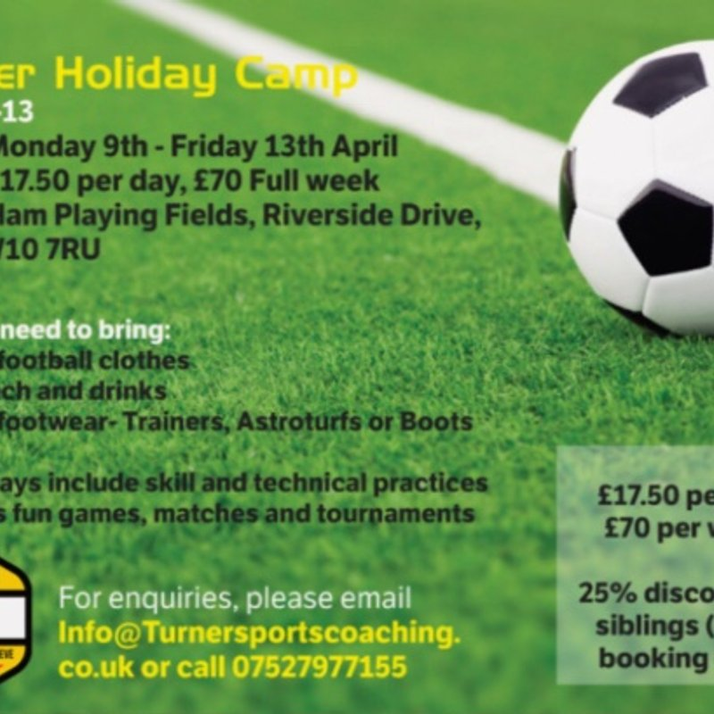 JAMIE'S FOOTBALL CAMP BACK OVER EASTER