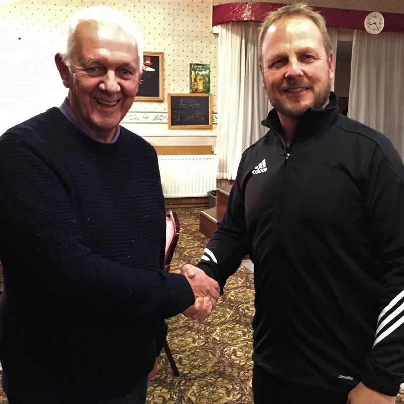 Chairman Graham Lewin, welcomes new First Team Manager Andy Gray.