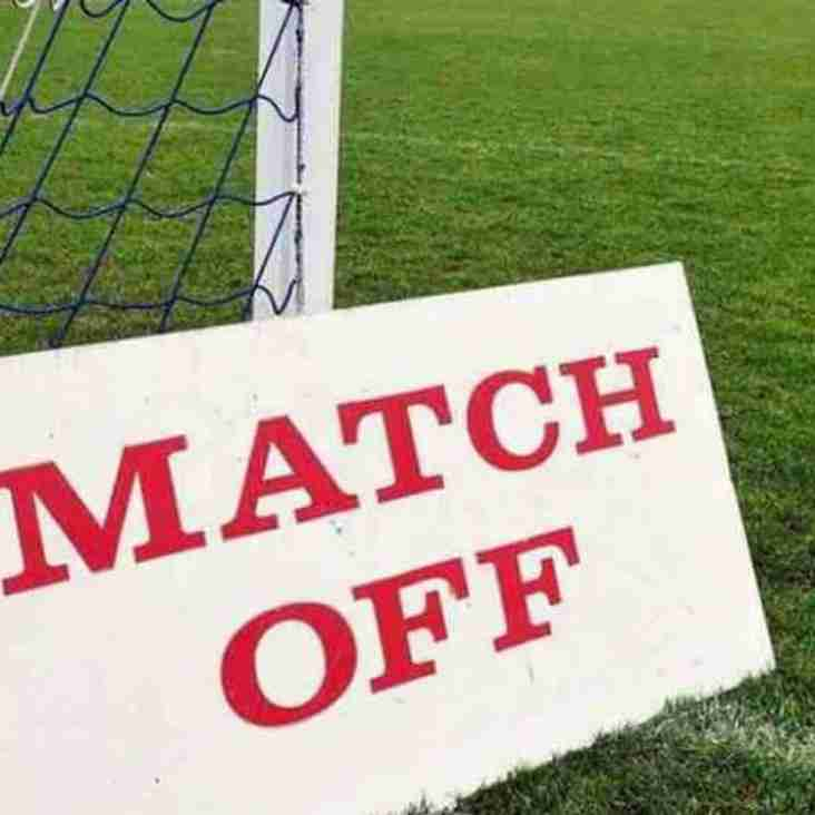 More Match Postponements due to bad weather!