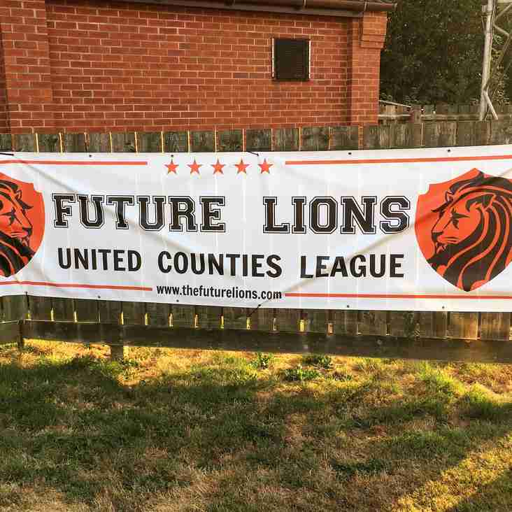 Future Lions United Counties League Fixtures