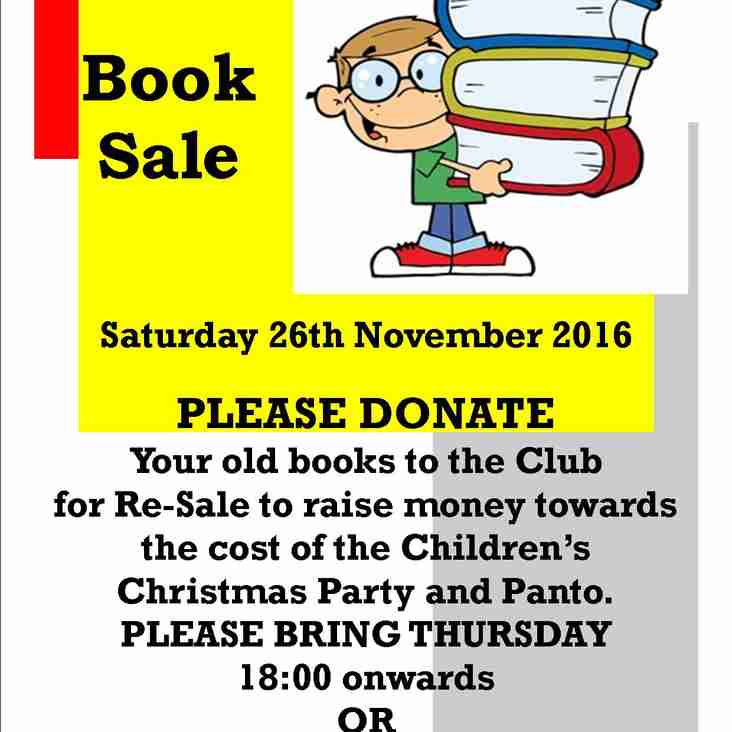 BOOK SALE AT THE CLUB Saturday 26th November