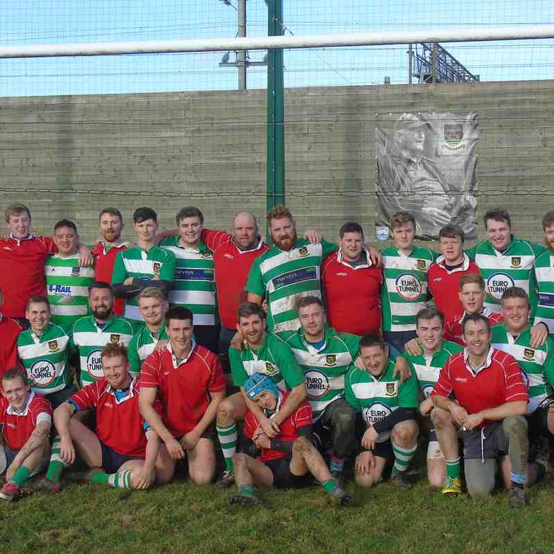 2017-12-26 Chairman's XV (Red) 22 President's XV (Green & White) 12