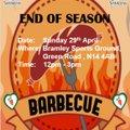 End of Season B-B-Q 12 noon Sunday 29 April