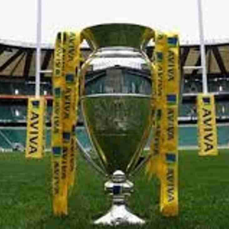 Saturday 27th May - Aviva Premiership Final Televised Live at the Club