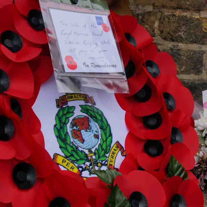 25th Sept 2016 - RMBS Memorial Rugby Game - Laying of Commemorative Wreaths