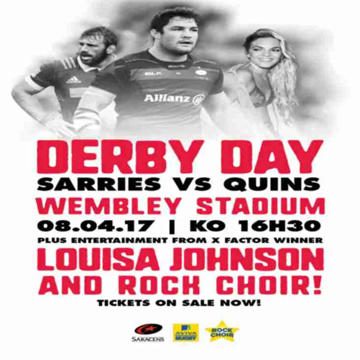 Want to Go To Wembley To Watch Sarries vs Harlequins?