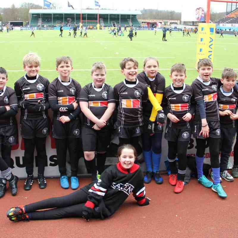 DBRFC U10's/U9's and U7's @ Saracens Core Values Tournament
