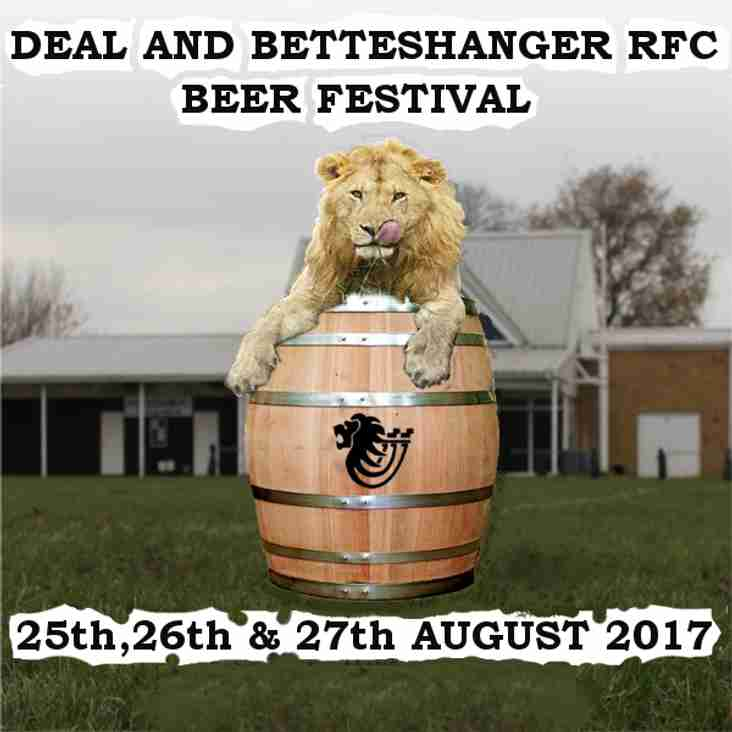 The 2017 Deal and Betteshanger  RFC Beer Festival
