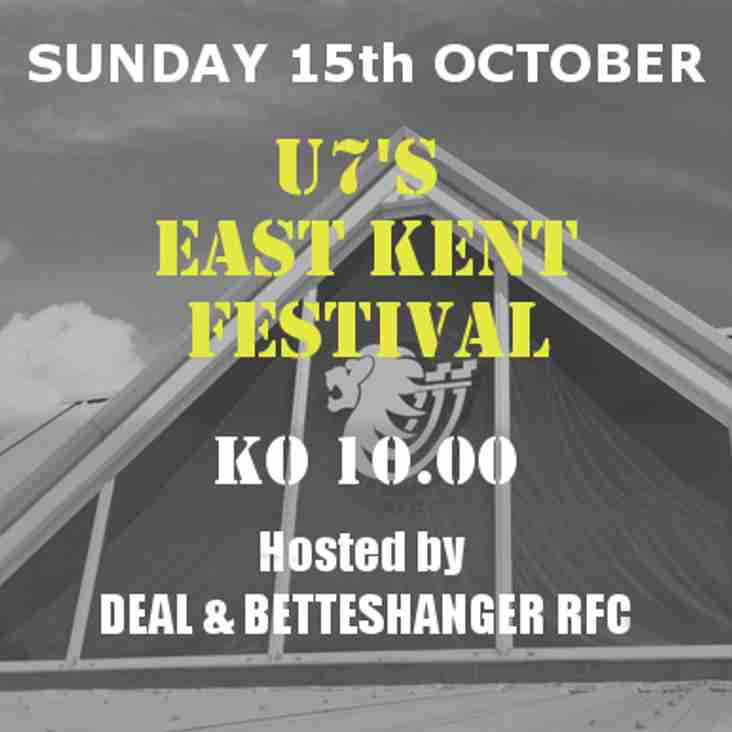 Sunday 15th October - U7's East Kent Festival @ the Lions Den